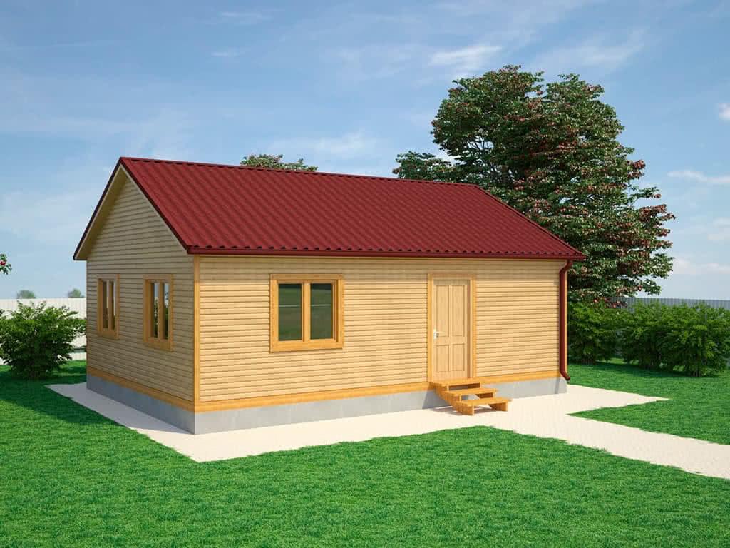 Каркасный дом Давид 6x8
