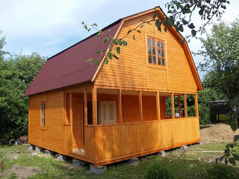 Дом с мансардой